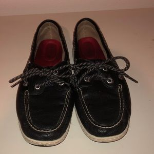 Black Sperry Top-Sider.